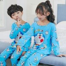 Купить с кэшбэком Spring Children Pajamas Suit 2019 Long Sleeve Kids Pyjamas Set Cartoon Girls Sleepwear Boys Loungewear Set Cute Baby Home Wear