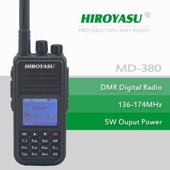 VHF DMR Walkie Talkie HIROYASU MD-380 VHF 136-174MHz DMR Digital Portable Two-Way Radio