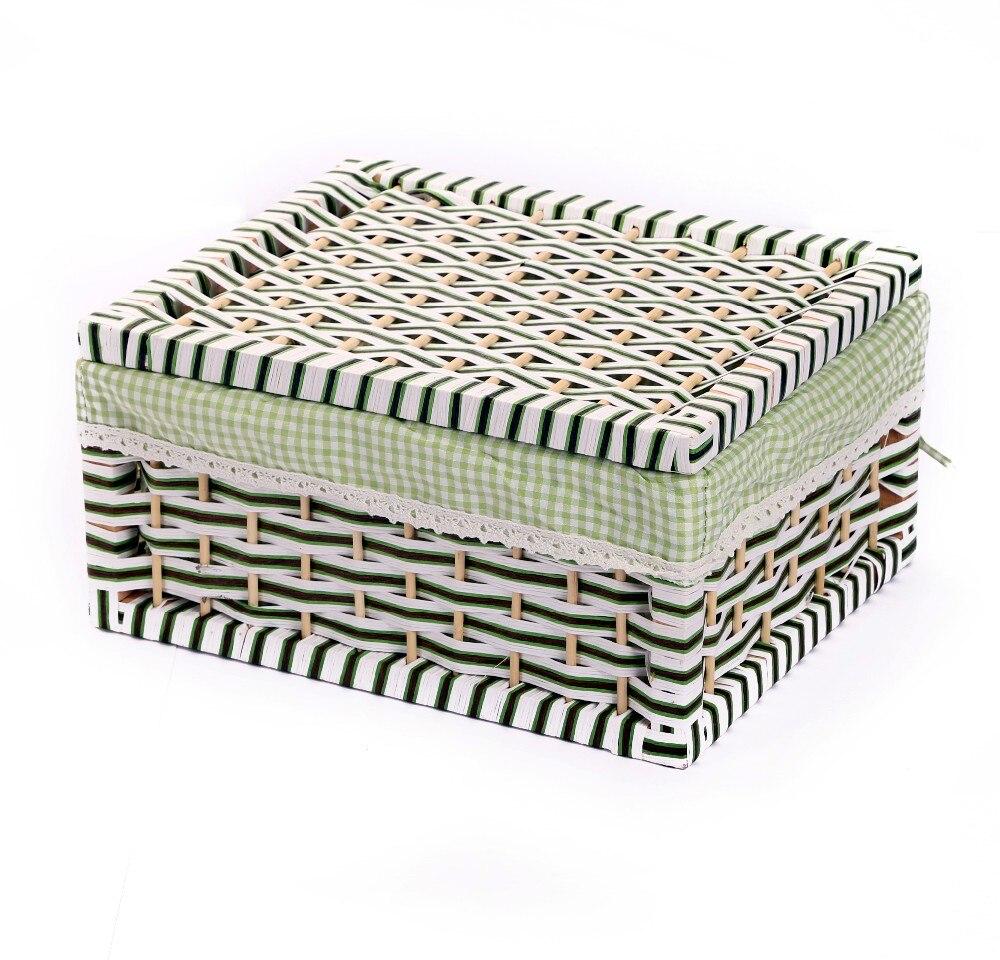 Aliexpress.com : Buy Home Storage U0026 Organization Storage Container Basket  Paper Rope Storage Bins Rectangular Basket Organizer Box Organizador Cesta  From ...