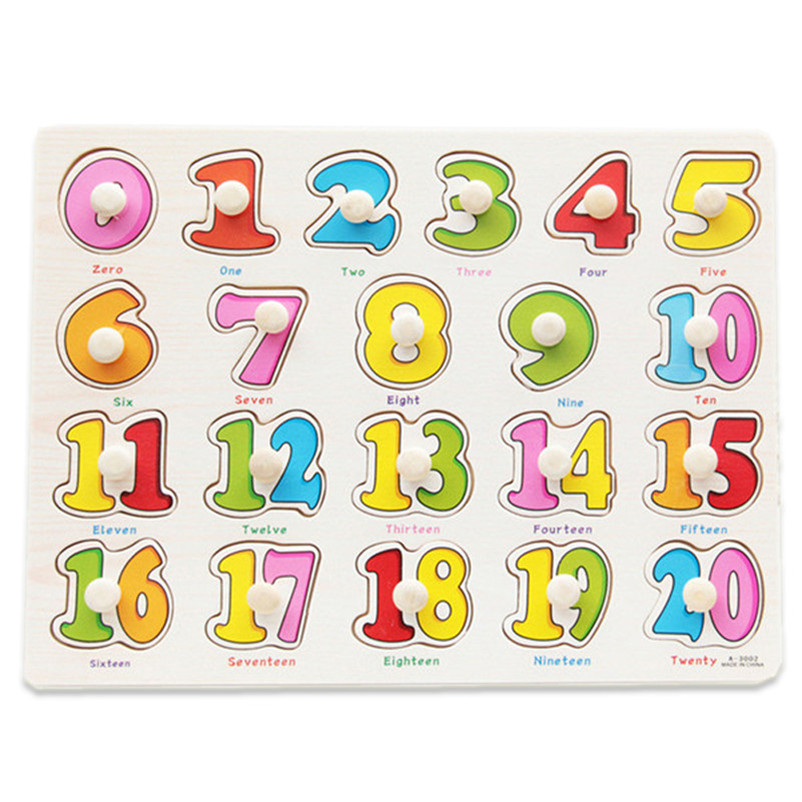 Educational toys Wooden Puzzle Baby Hand Grasp Gift For Children Boy Gril Alphabet Digit Learning Brinquedo Houses Jigsaw Puzzle hand grasp knob pegged puzzle wooden quality animals characters letter cognitive board children recognization toys