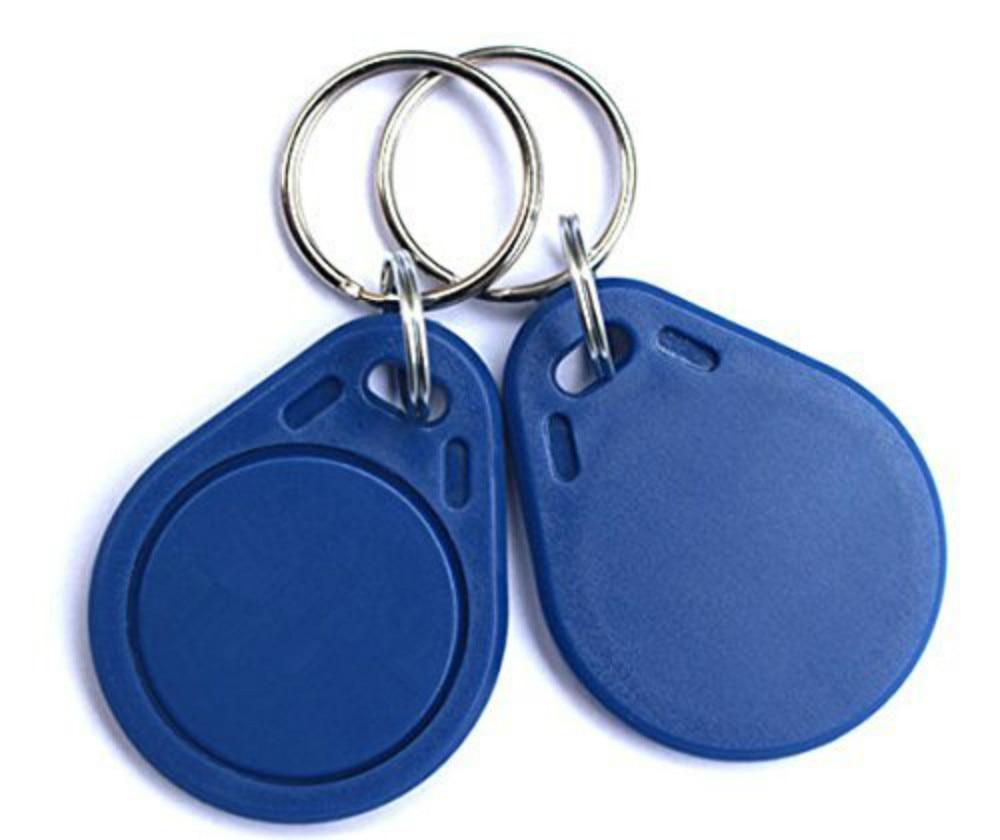 10pcs RFID 125KHz Writable Rewrite T5577 Keychains Proximity Smart Chip Access Key fobs key tags