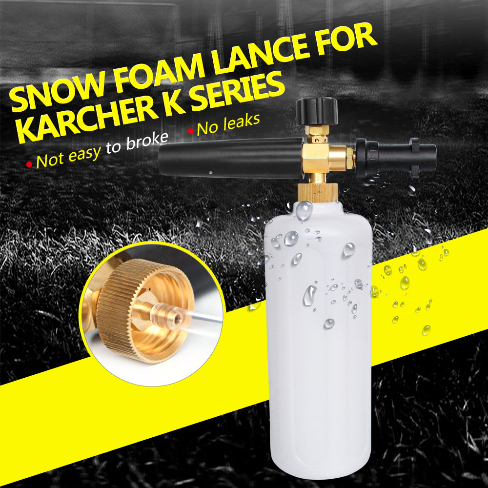 Hochdruck Schnee Foam Lance für Karcher K Serie Seife Schäumer Einstellbar Schaum Düse Professionelle Schaum Generator Auto Washer