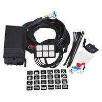 6 gang switch painel sistema de relé eletrônico caixa de controle circuito fusível à prova dwaterproof água caixa de relé cablagens conjuntos para carro