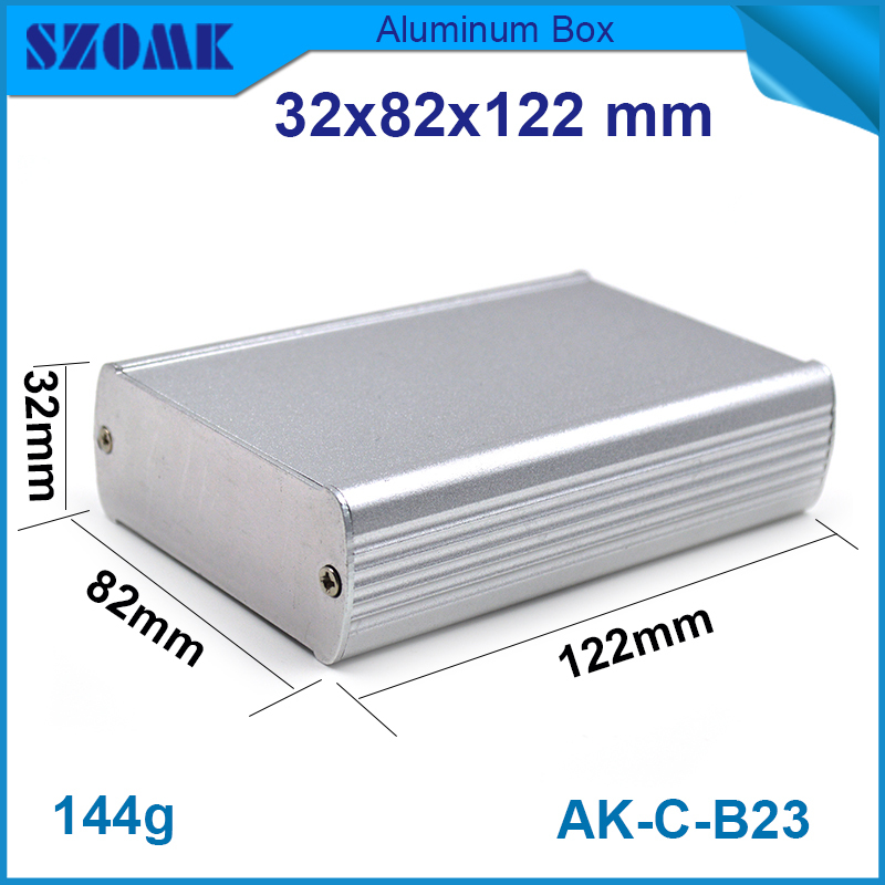 box aluminum desktop enclosure 10pcs/lot IP54 housing smooth surface housing for GPS trackers and fit PCB 27x79 mm image