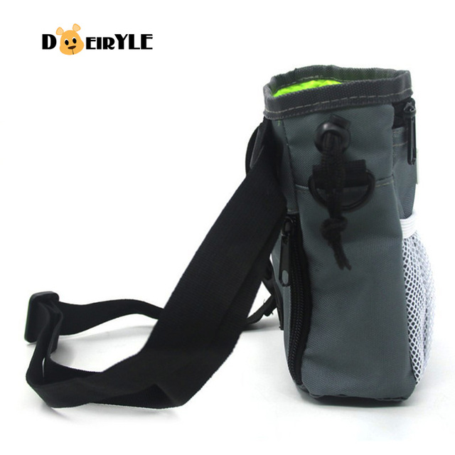 DEIRYLE Dog Training Treat Bag Food , Adjustable Waist Belt and Shoulder Strap