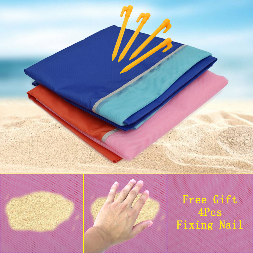 200x200cm Large Camping Mat Beach Mat Sand Proof Mat Waterproof Blanket Travel Summer Vacation Outdoor Sleeping Pad