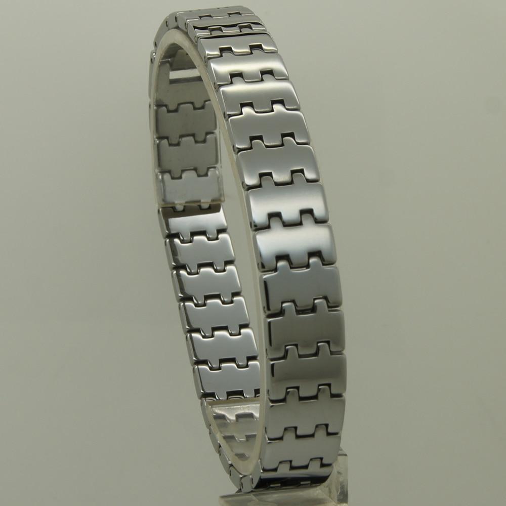 Männer schmuck 12mm breite klassische design shiny 10 länge klassische hallo-tech-kratzfest armband aus wolfram