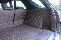 Customized full covered trunk mats for Mercedes Benz GLE 400 450 waterproof durable boot carpets for GLE