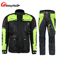 Riding Tribe Men Motorcycle Touring Travel Riding Clothing Suit Motocross Off-Road Racing Windproof Waterproof Jacket Pants Set