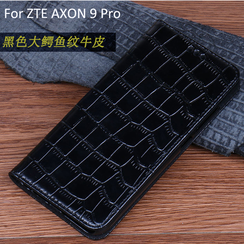 For ZTE AXON 9 Pro Phone Case Cover Genuine Leather shell Ultra Thin PU Holder For ZTE AXON9 Pro flip cases
