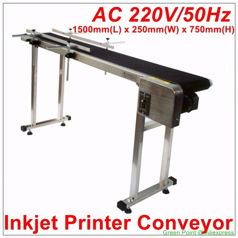 New 120W CSD120 200 Inkjet Printer Stainless Steel Bottle Conveyor Belt Box Bag Sticker 200 mm