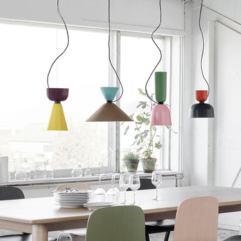 Pendant Lamp Nordic pendant lights dinning room pendant lamps modern multi-color DIY combination Aluminum cord pendant light фото
