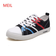 2018 Mens Casual Graffiti Canvas Shoes Men Breathable For Trainers Fashion Sneakers Vulcanize Shoe