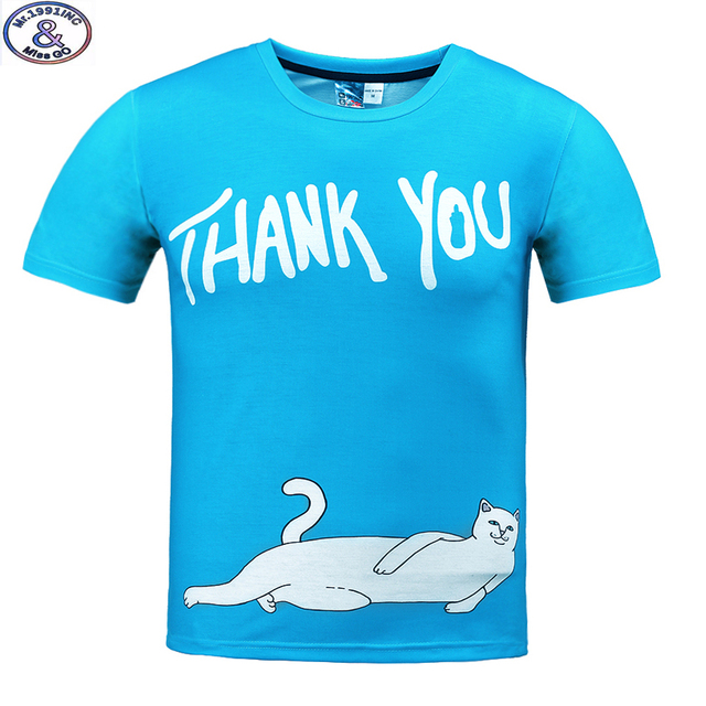 Mr.1991 brand funny white cat printed 3D t-shirt for boys and girls summer style teens t shirt big kids 11-20years tops A35