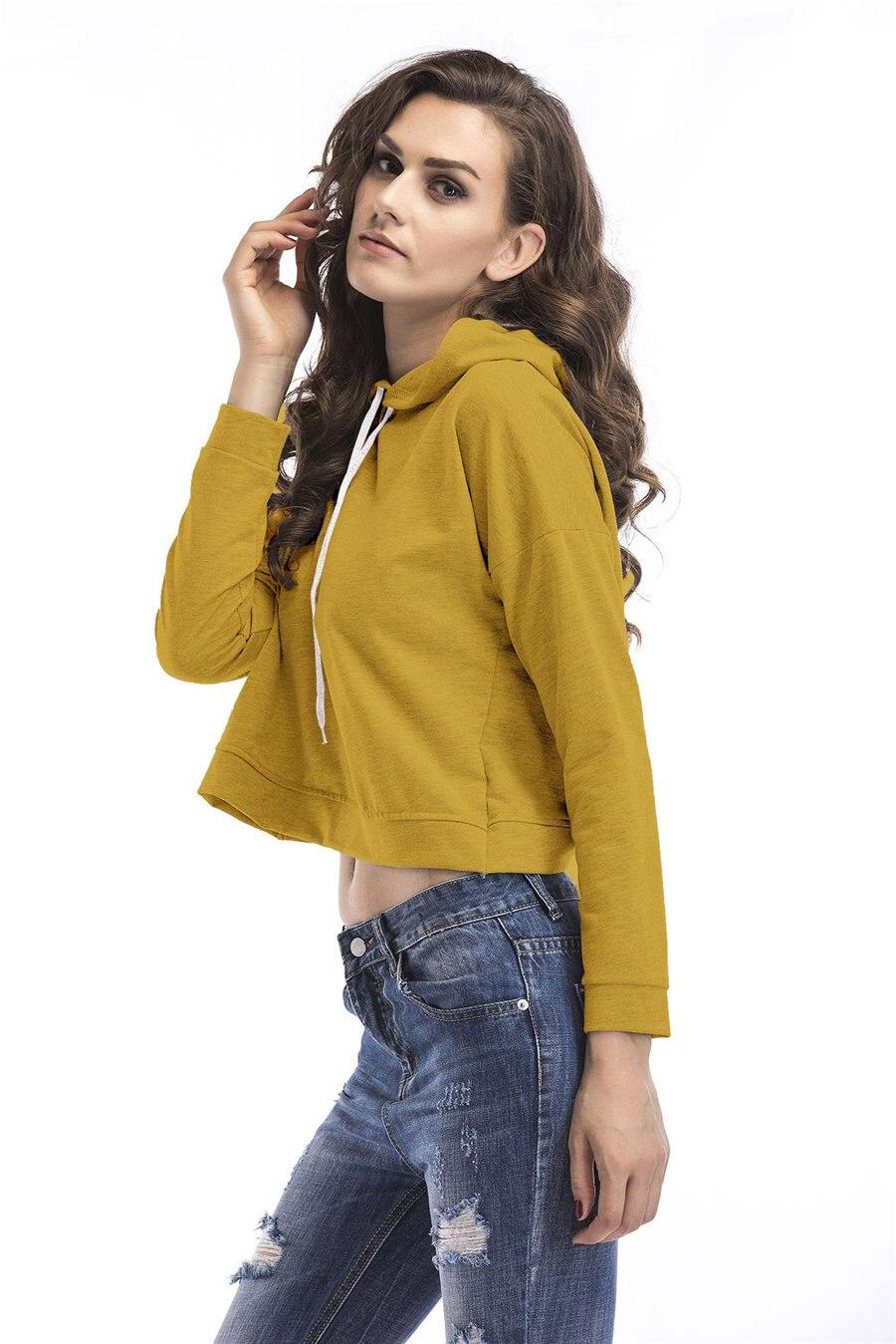 Gladiolus Spring Hooded Hoodies Women Long Sleeve Sexy Crop Top 2019 Short Slim Sweatshirt Women Loose Pullover Tracksuit Tops (13)