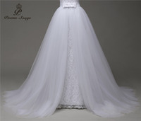 Poemssongs Custom Made High Quality Only Sale Wedding Dress Silky Organza Detachable Train Vestido De Noivas