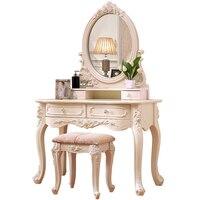 Do Sypialni Makeup Comoda Para Coiffeuse Avec Miroir Dresser European Wooden Bedroom Furniture Quarto Penteadeira Dressing Table
