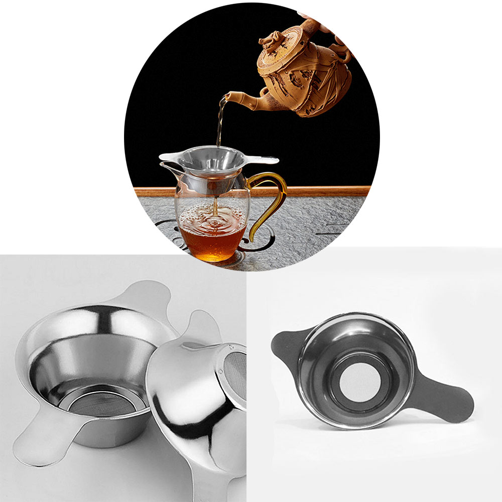 Chinese Tea Real Lover Silver Xinguang Stainless Steel Tea Leak Duckbill Ears Simple Style