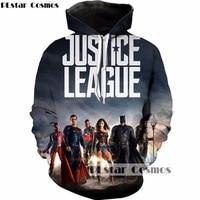 PLstar Cosmos DC Comics 3D Hoodies Superhero Movie Justice League Print Sweatshirt Men Women Hoody Tracksuits