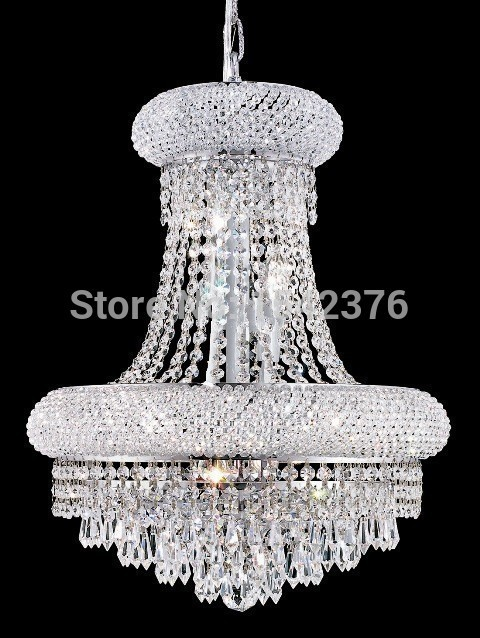 Chandeliers Lights & Lighting Professional Sale Modern 9 Lights Dome Basket Crystal Chandeliers In Chrome Finish,at-3,55cm W X 60cm H
