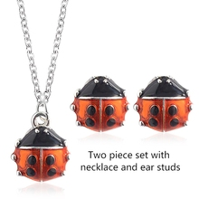 Fashion set of ornaments woman Creative star ladybug two-piece  necklace cute cartoon jewelry hot sale