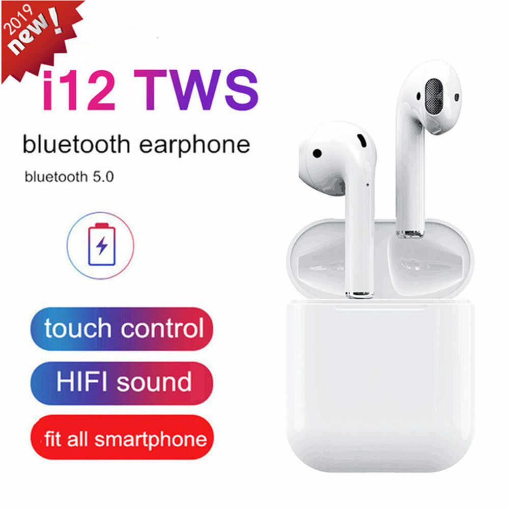 4c4452e5f96 Detail Feedback Questions about i12 TWS Bluetooth 5.0 Earphones True Wireless  Earbuds Touch Control Stereo Handsfree Headset for Apple iPhone Android PK  i10 ...