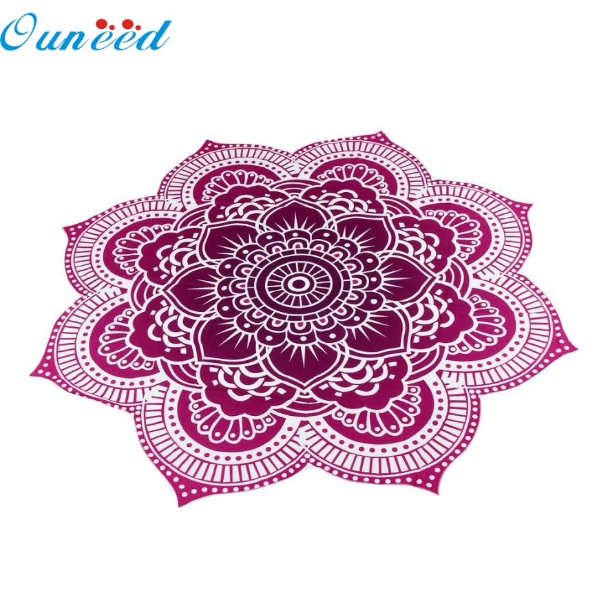 2017 New Hot Selling Fast Shipping Round Beach Pool Home Shower Towel Blanket Table Cloth Yoga Mat