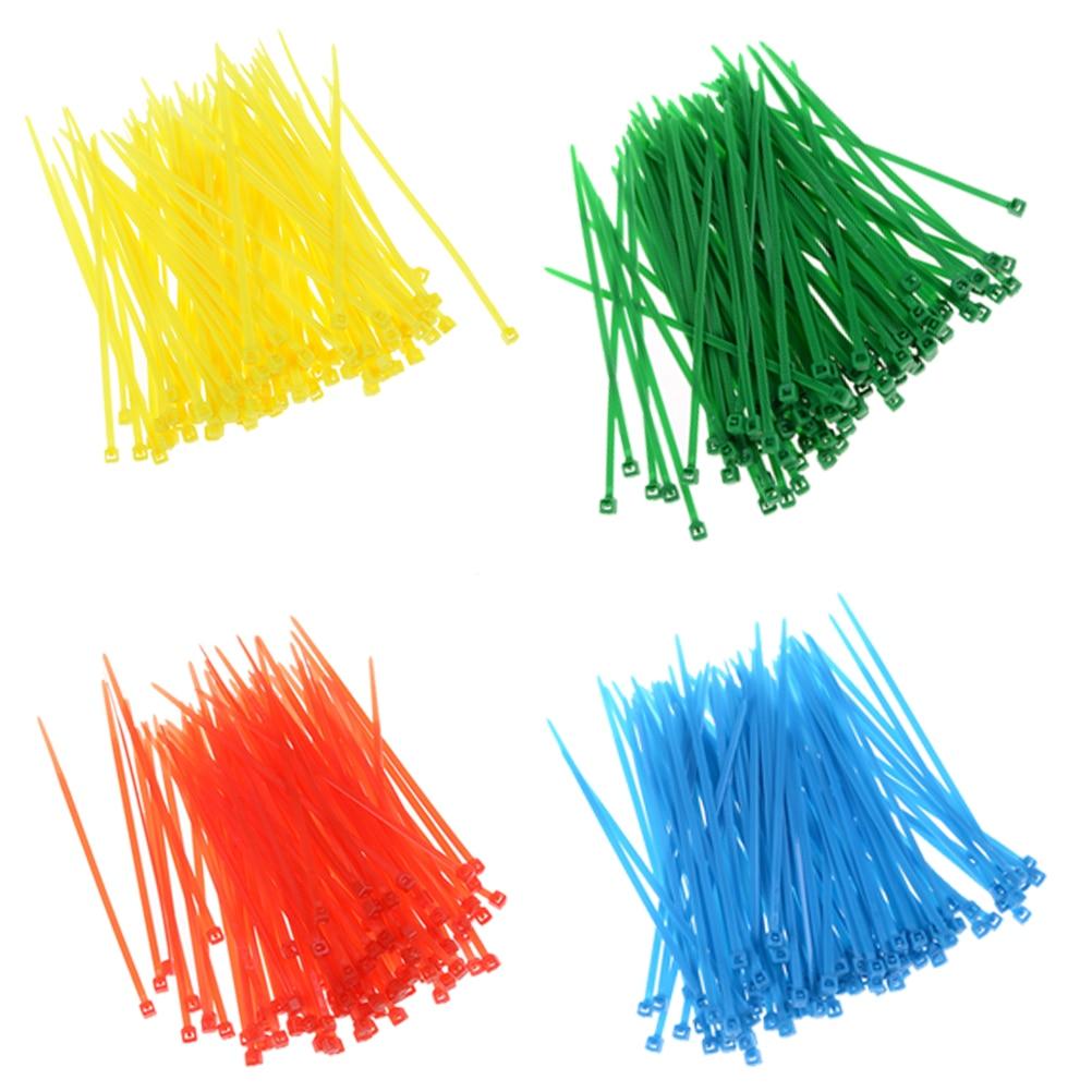 100Pcs/pack 3*100mm width 2.5mm Colorful Factory Standard Self-locking Plastic Nylon Cable Ties,Wire Zip Tie Wholesale surplice neckline self tie cami jumpsuit