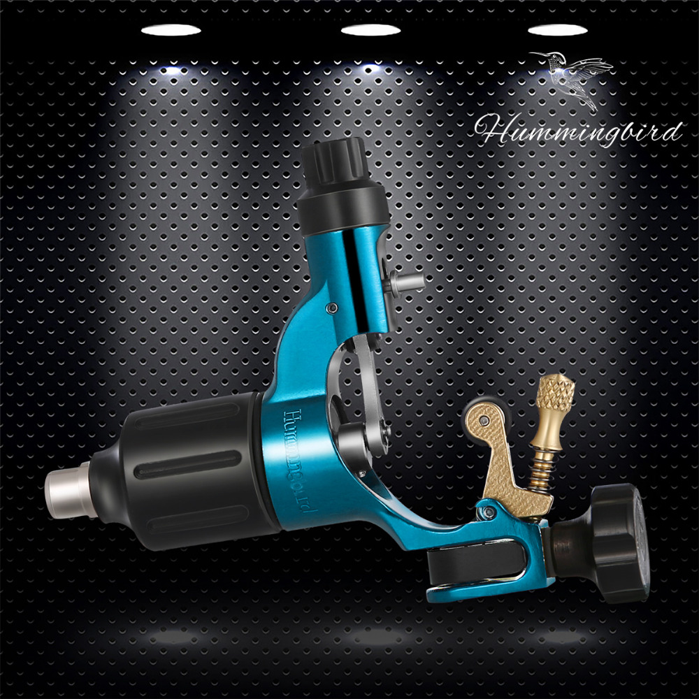 Sky Blue Original Hummingbird Gen2 rotary tattoo machine gun swiss motor RCA Jack Supply брелок blue sky faux taobao pc006