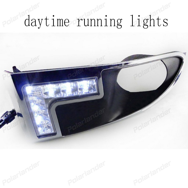 2 pcs/lot Auto part Daytime Running Light Head led DRL 12V Car styling for D/odge C/aliber 2009 2011