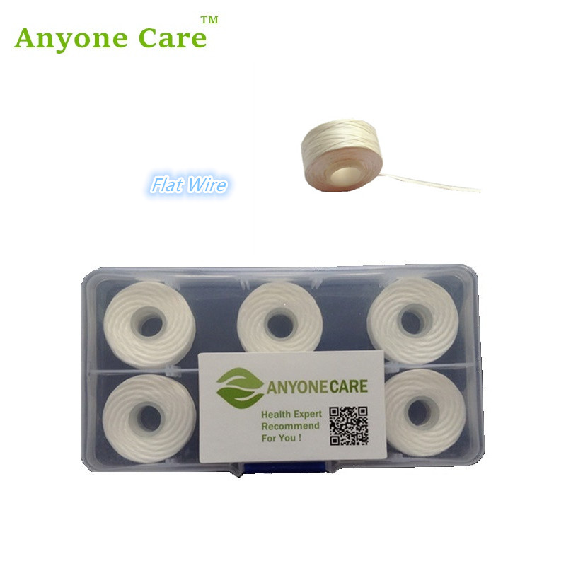 Top quality PTFE Dental floss Flat thread Floss 5pcs in Box easy go deep into teeth Refill for Dental Flosser Replace Spool ...