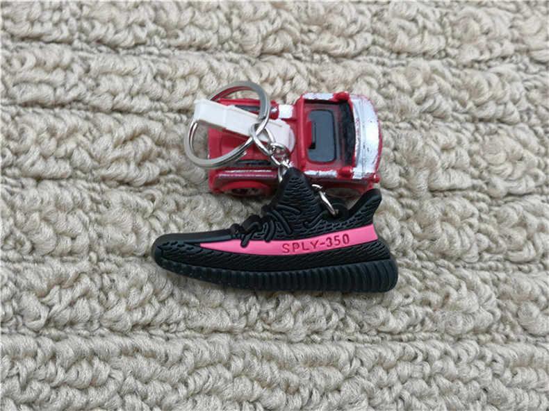 Moda Mini Silikon SPLY-350 V2 Ayakkabı Anahtarlık Kadın çanta uğuru Erkek Çocuklar Anahtarlık Hediye Sneaker Anahtarlık Acessorios Porte Clef