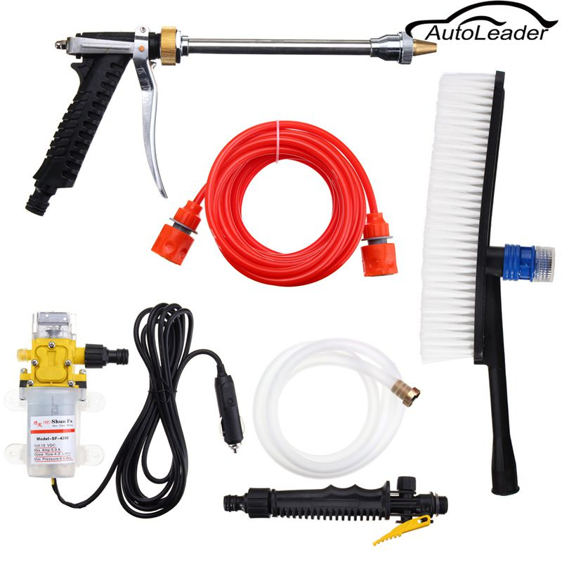 Best Quality DC 12V High Pressure Car Washer Cleaner Water Wash Pump Sprayer Kit 12v 65w high pressure marine deck car washer wash water pump cleaner sprayer kit