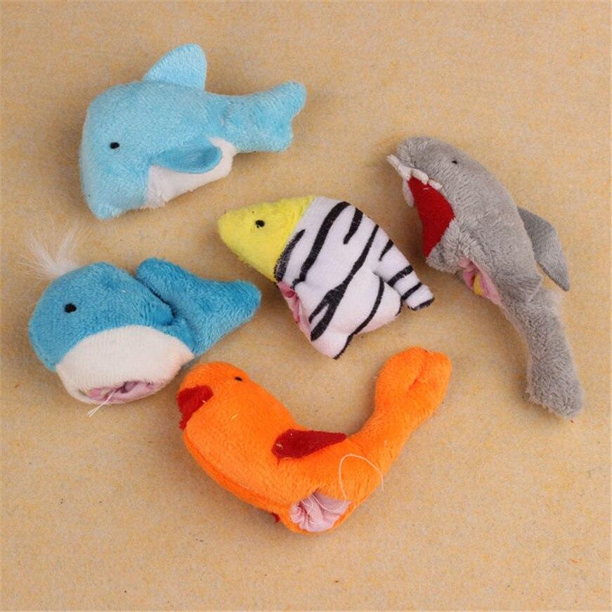 10 шт. аниме куклы для детей палец Ocean Мягкая кукла для маленьких девочек мальчик пальцем игрушки плюшевые игрушки Симпатичные игрушки дропш...