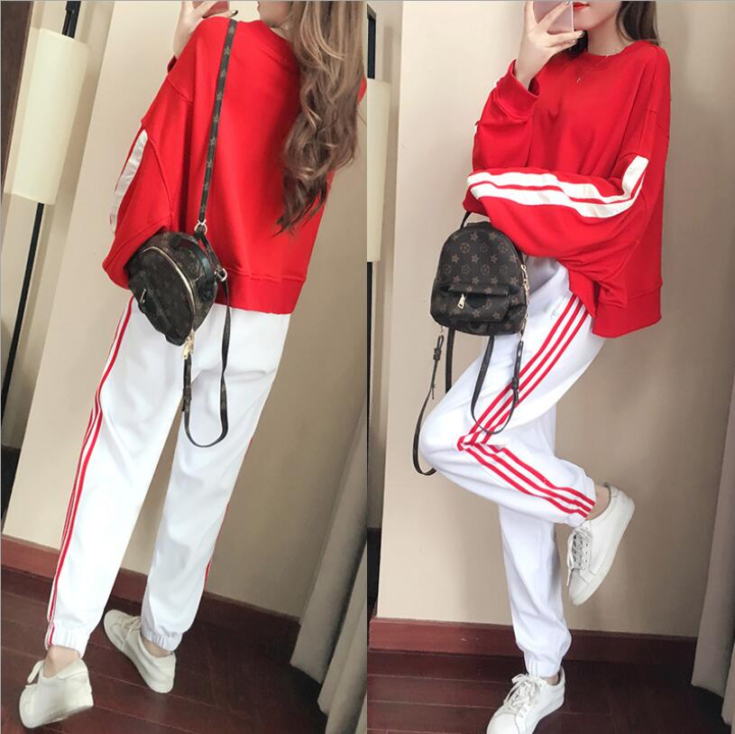 Casual suit female spring and autumn 2018 new autumn loose long-sleeved sweater trousers two sets of tide 2