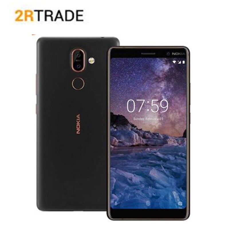 Nokia 7 Plus Snapdragon 660 ROM 64G téléphone Mobile 6.0 ''FHD 2160*1080 Octa core téléphone portable 3800mAh 4G LTE NFC Smartphone