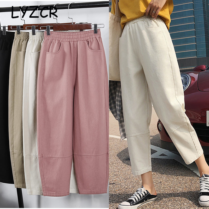 Loose Joggers Cargo Harem Pants Women Plus Size Cotton Women's Harem Boyfriend Pants For Women Pencil Sweatpants Large Size