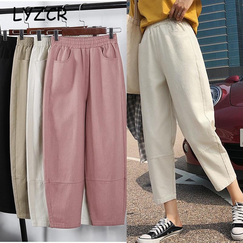 Loose Joggers Cargo Harem Pants Women Plus Size Cotton Women's Harem Boyfriend Pants For Women Pencil Sweatpants Large Size