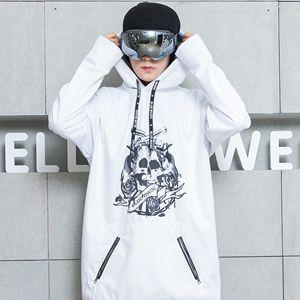 Bluemagic сноуборд мягкая оболочка Комбинированная ткань Длинная толстовка для женщин и мужчин водонепроницаемые толстовки ветрозащитные лыжные костюмы - Цвет: SKULL FOR MEN