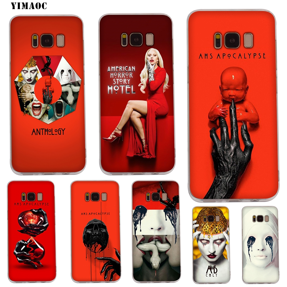 YIMAOC American Horror Story TV Soft Case for Galaxy <font><b>j3</b></font> j5 j6 j7 A5 2016 <font><b>2017</b></font> A6 A9 2018 Note 8 9 S7 edge S8 S9 S10 Plus S10e image