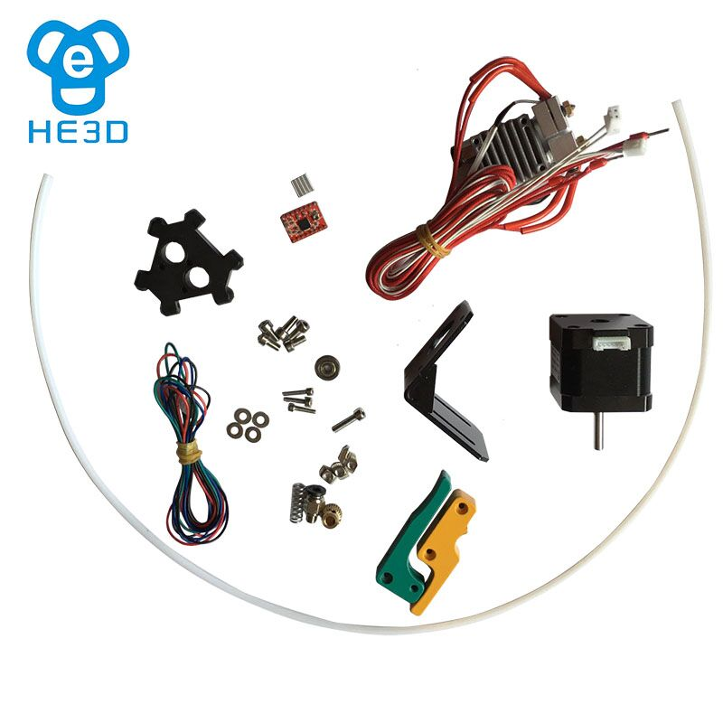 K200/K280 dual extruder upgrade kit for HE3D delta K200/K280 DIY 3D printer new upgrade he3d high presicion k200 dual aluminium extruder delta diy 3d printer with heat bed supporting multi filaments%2