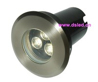 CE Stainless Steel High Power 3W LED Inground Light DS 11S 14 3W 3X1W IP67 D100mm