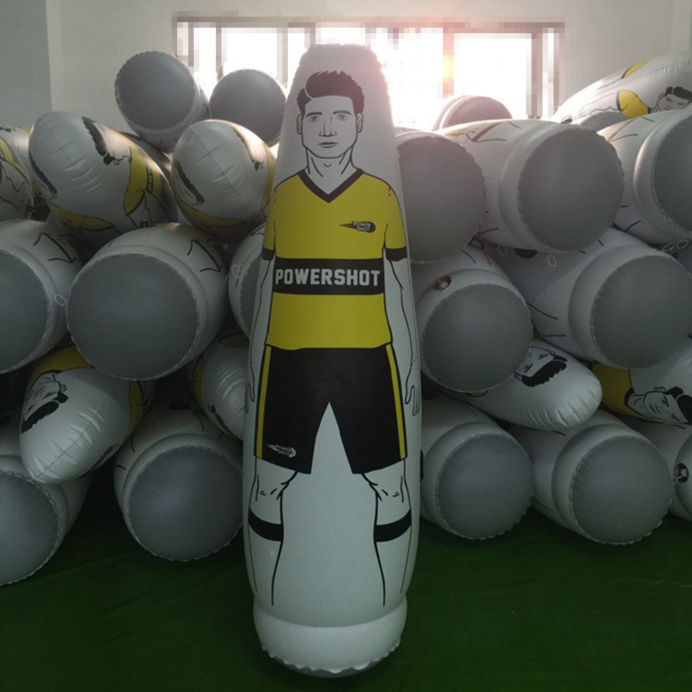 купить 175cm PVC Inflatable Football Training goalkeeper Tumbler Air Soccer Dummy Mannequin Children Adult penalty equipment по цене 3004.81 рублей