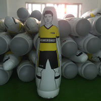 175cm PVC Inflatable Football Training goalkeeper Tumbler Air Soccer Dummy Mannequin Children Adult penalty equipment