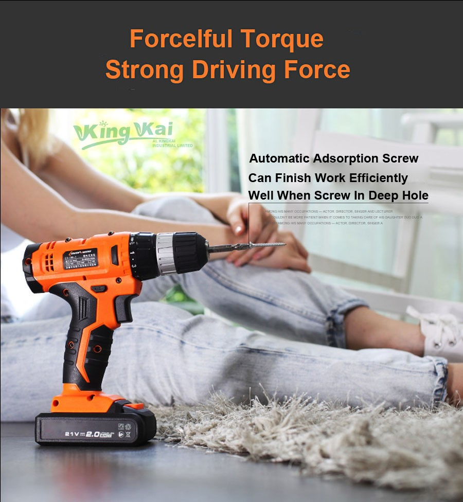 Cordless Lithium Battery Electric Drill-23