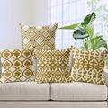 Geometric Cushion Covers Yellow Series Throw Pillows Covers Flower Design Decorative Sofa Pillows Cases Decor