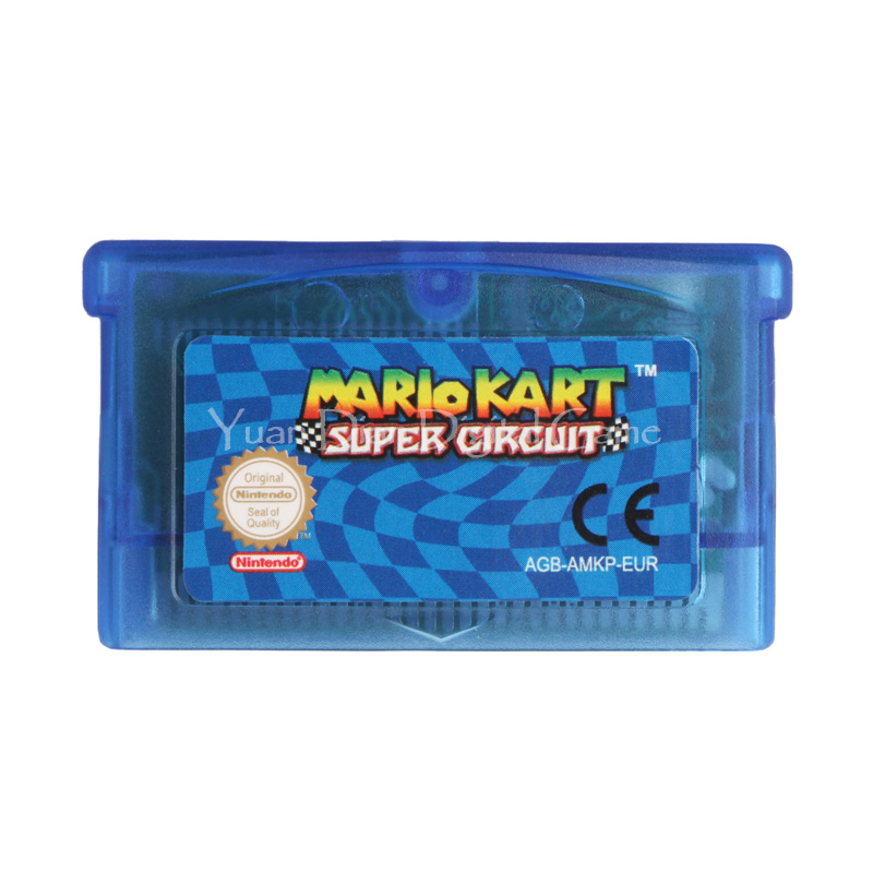 Nintendo GBA Video Game Cartridge Console Card Mario Kart Super Circuit EU English Language Version