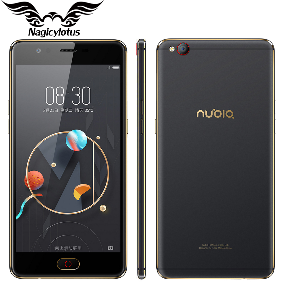 Nubia M2 Lite 4G LTE Mobile Phone 3/4GB RAM 64GB ROM MT6750 Quad Core 5.5 inch 16MP Android N Fingerprint ID Phone