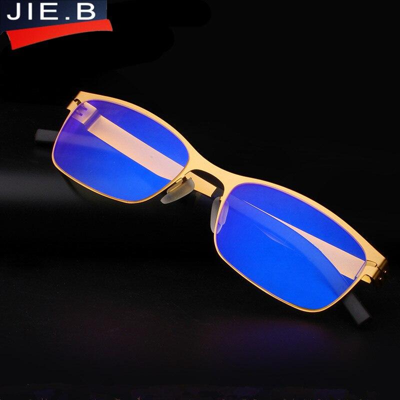 Resist the blu-ray Stainless steel Brand Design Top Quality Read Glasses Men Metal Fashion Optics Reading Glasses oculos de gray