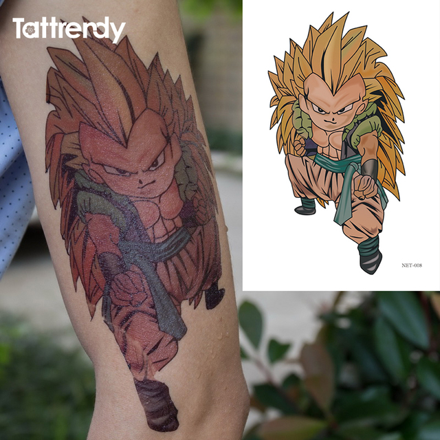 Us 191 Tymczasowe Tatuaże Duże Ramię Na Ramię Fałszywe Transferu Naklejka Tatuaż Hot Sexy Mężczyźni Kobiety Wodoodporna Cartoon Dragon Ball